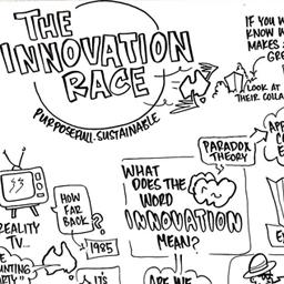 Innovation Race infograph sketch