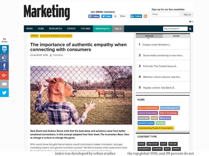 The importance of authentic empathy when connecting with consumers