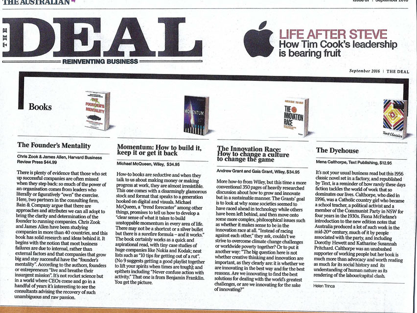 THE DEAL: Book Review The Innovation Race