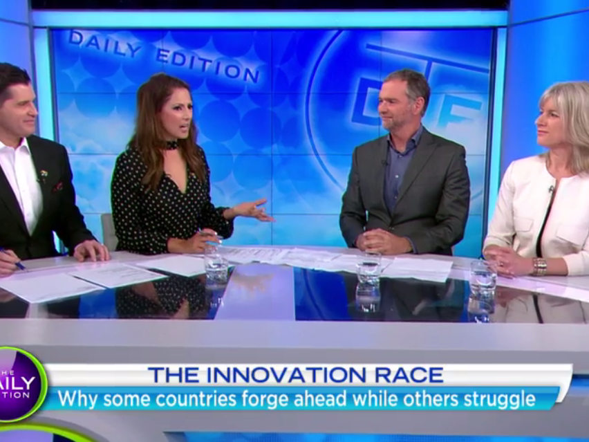 The Innovation Race Interview on The Daily Edition (Channel 7)