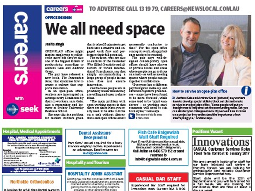 "NEWSLOCAL: ""We all need space"""