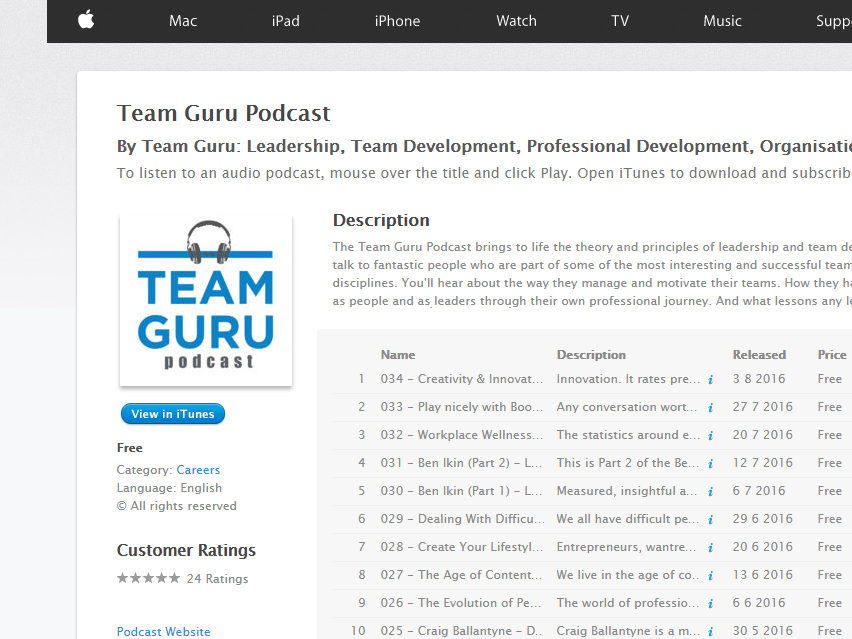 Creativity & Innovation Gaia Grant Podcast by Team Guru: Leadership, Team Development, Professional Development, Organisational Development